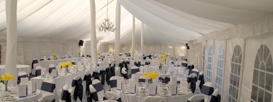 The Marquee is great for Wedding Receptions